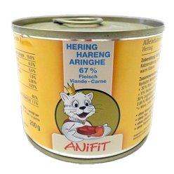 Cibo umido per gatto (in scatola) ANiFiT Aringhe